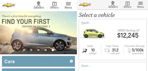 Xu hướng thiết kế web trên mobile năm 2012