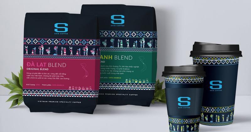 Chào ngày mới với bao bì dân tộc của Shin Coffee