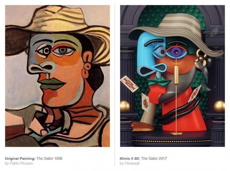 Omar Aqil và những tác phẩm 3D lấy cảm hứng từ tranh Picasso (p.2)