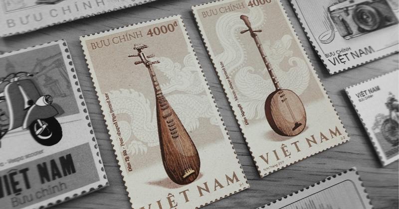 Bạn đã từng thấy tem nhạc cụ truyền thống Việt Nam chưa?