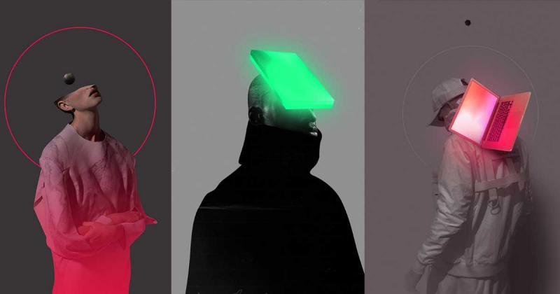 Đắm chìm trong minh họa - cắt ghép kĩ thuật số từ Mateusz Lengling