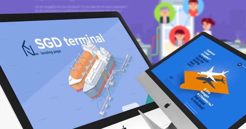 10 Landing Page có thiết kế đẹp mắt bằng minh họa