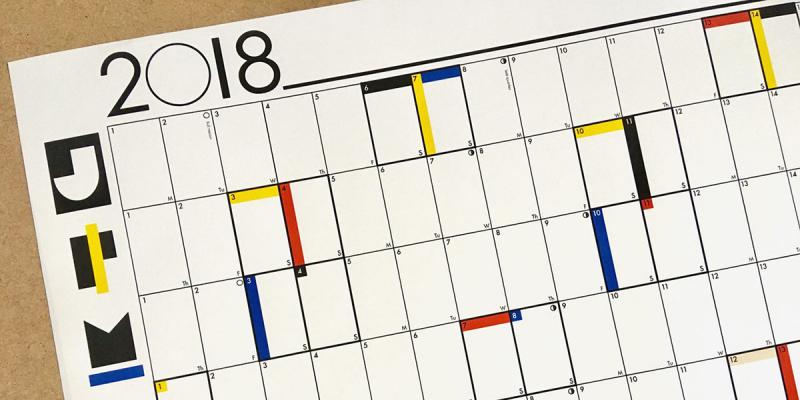 15 cảm hứng thiết kế lịch cho năm 2018