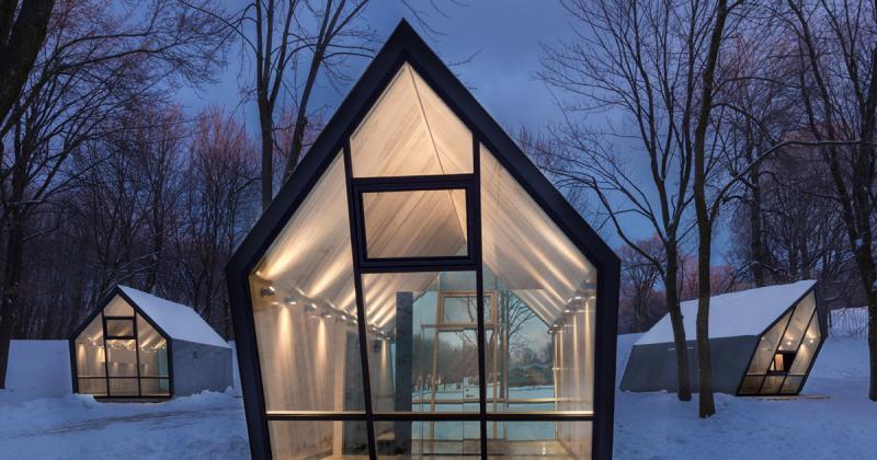Những căn buồng nhỏ nằm giữa rừng tuyết Canada