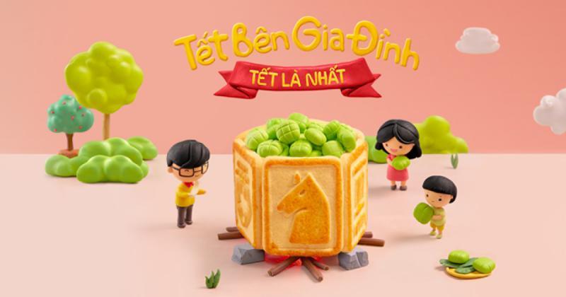 Print ads - Nghệ thuật dùng bánh quy thể hiện văn hóa tết