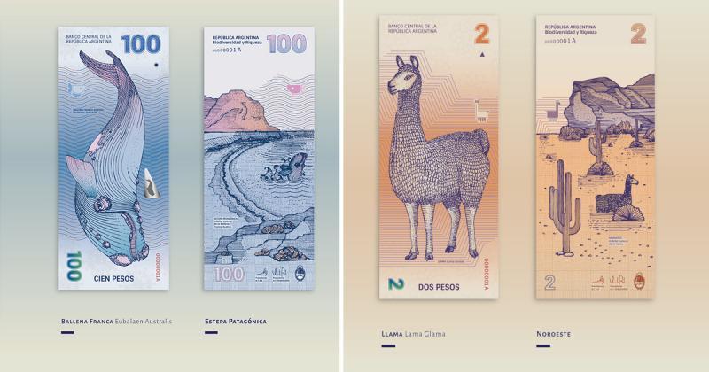 Thiết kế mới cho những tờ tiền cũ của Argentina