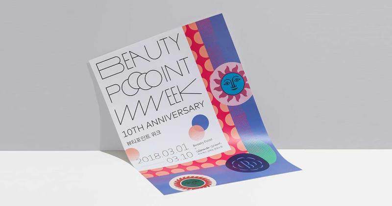Beauty Point Week - bao bì mỹ phẩm rộn ràng sắc màu