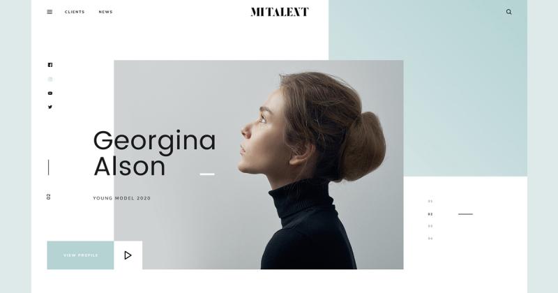 Tặng bạn template thiết kế web MI Talent sang trọng