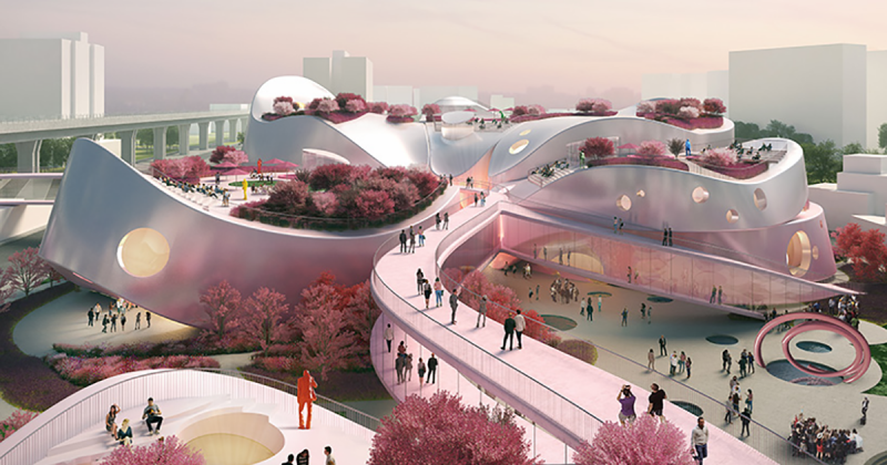 MVRDV và ý tưởng nhuộm hồng cho Bảo tàng nghệ thuật Taoyuan ở Đài Loan
