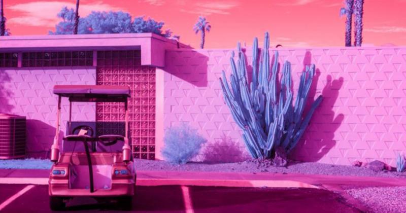 Vùng vịnh Palm Spring tuyệt đẹp qua ống kính của tia hồng ngoại