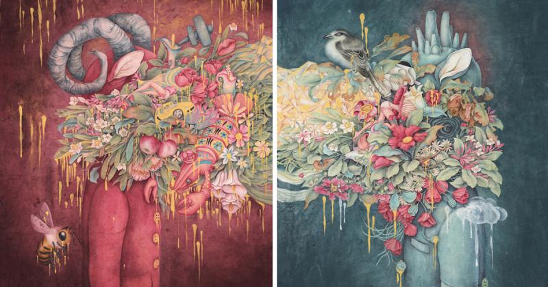 Mối tương quan giữa con người và thế giới qua những bức tranh của Alice Lin
