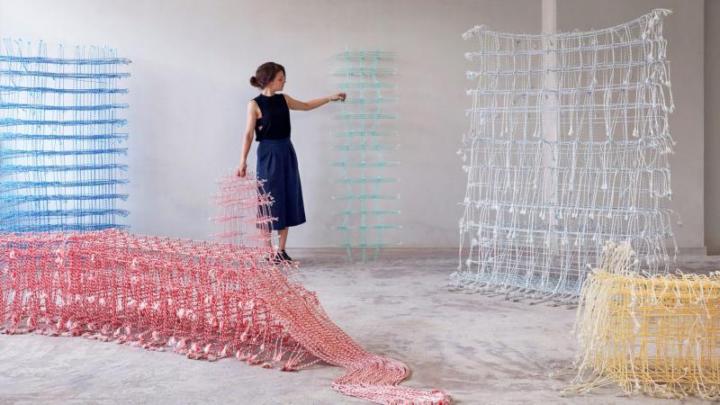 Khối vải dệt từ sợi thiên nhiên có thể làm đồ nội thất