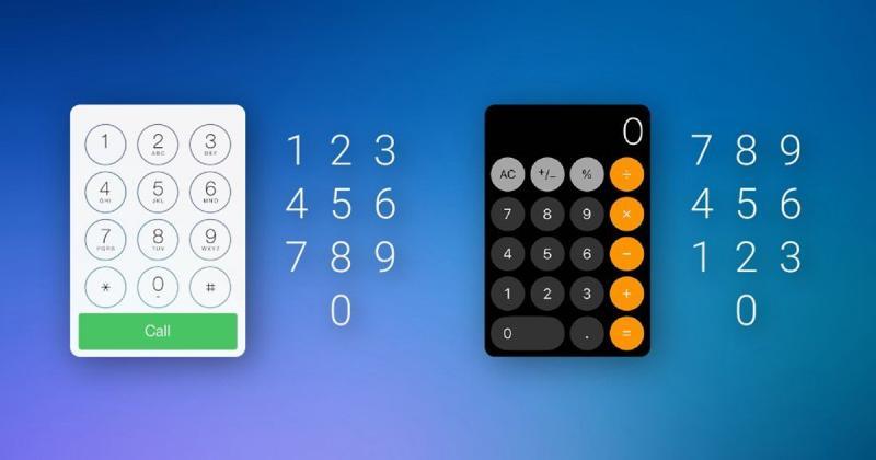 Bạn có biết sự khác nhau giữa bàn phím số trên di động và bảng tính?