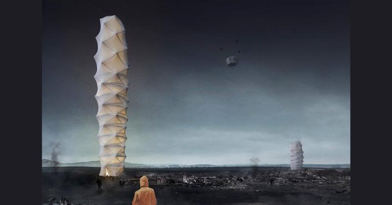 Nhà chọc trời từ giấy gấp origami giải cứu thế giới