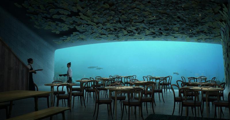 Nhà hàng dưới biển đầu tiên của châu Âu ở Na Uy