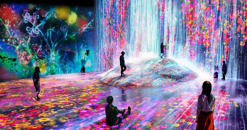 Chìm đắm trong ảo ảnh của bảo tàng nghệ thuật kỹ thuật số tại Nhật Bản