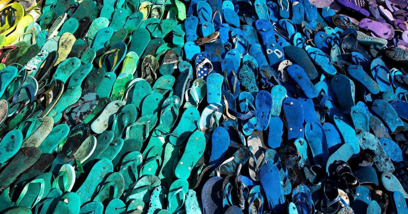 Lost soles - Cầu vồng từ những chiếc dép trôi dạt ngoài biển