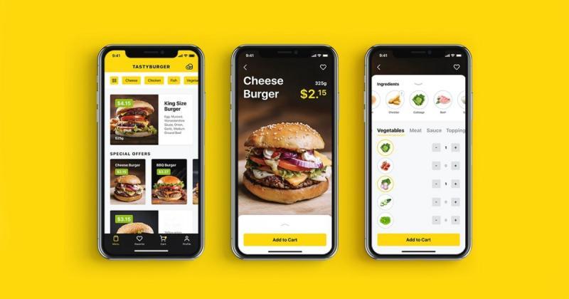 Case study: Tasty Burger - Thiết kế UI cho phần mềm đặt thức ăn trên điện thoại