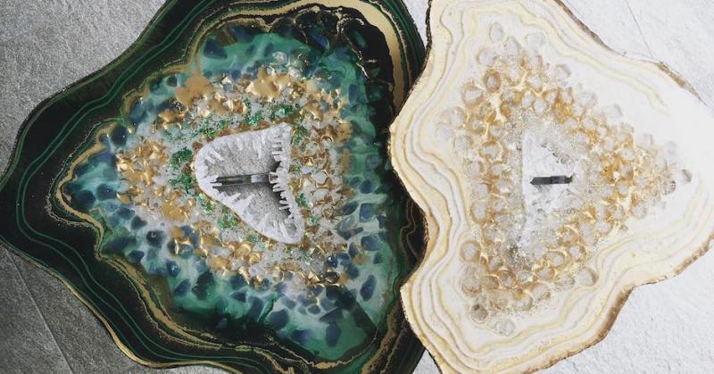 Tưởng là nội thất từ đá quý, hoá ra chúng được làm từ nhựa cây