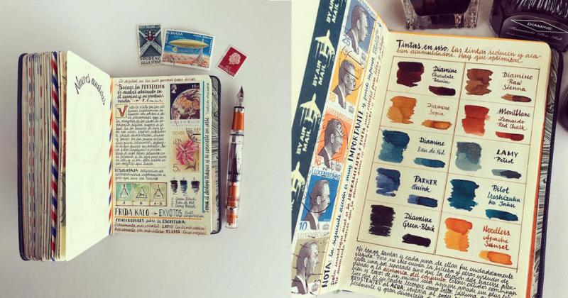 José Naranja và cuốn sổ vẽ tay đầy ắp trải nghiệm cuộc sống