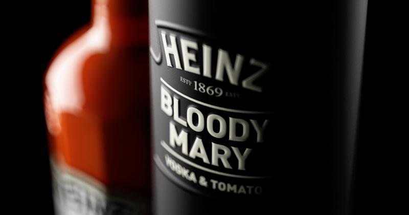 Thiết kế chai cocktail cà chua sang trọng từ thương hiệu Heinz