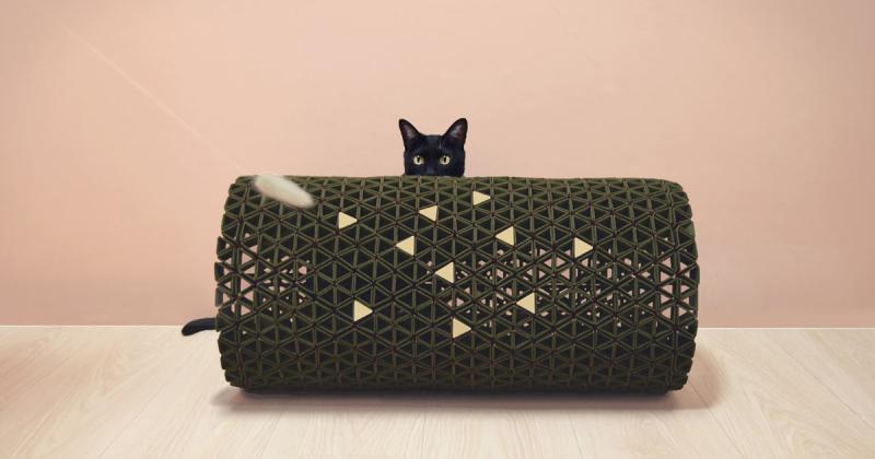 Đồ nội thất Peek A Boo cho phép bạn chơi đùa với bé mèo nhà mình