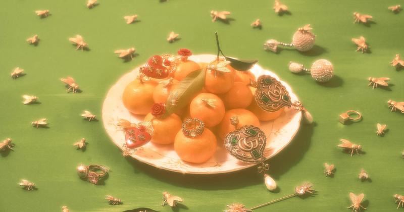 Bộ ảnh của studio Monkey Minh sử dụng vớ da của mẹ và những em ruồi