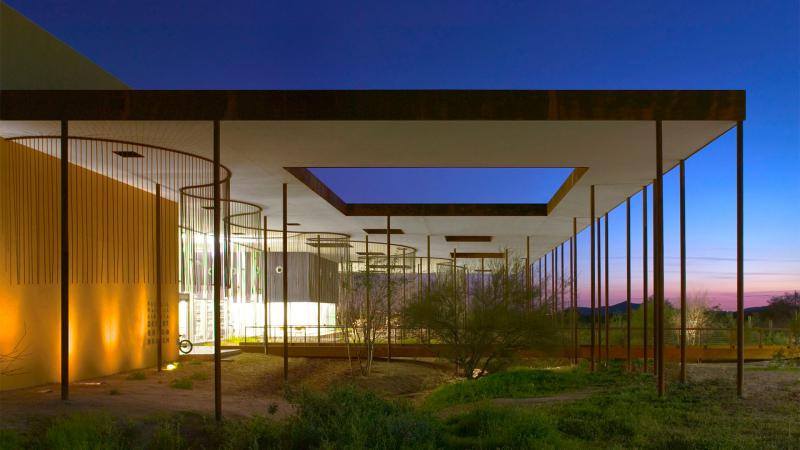 Thư viện với thời tiết chan hoà giữa lòng sa mạc hoang vắng