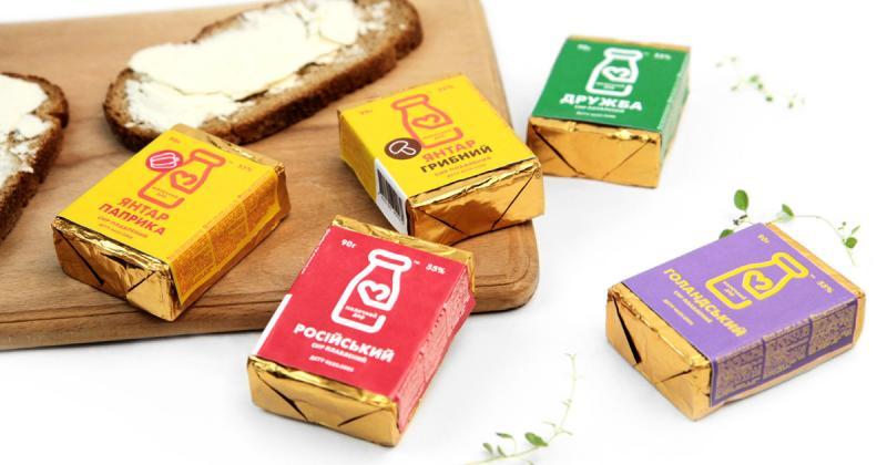 Một ví dụ về thiết kế đề cao tính 'tiết kiệm' qua nhận diện cho thương hiệu sữa vùng Poltava