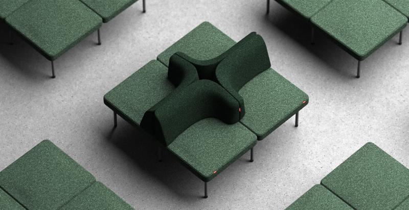 Ghế ngồi UNIO - Linh động từ thể đơn giản đến phức tạp