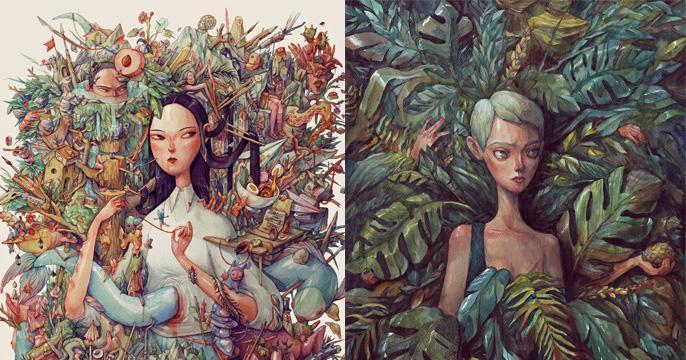 Nghệ sĩ của tuần: Marija Tiurina và những nhân vật chi tiết đến kinh ngạc