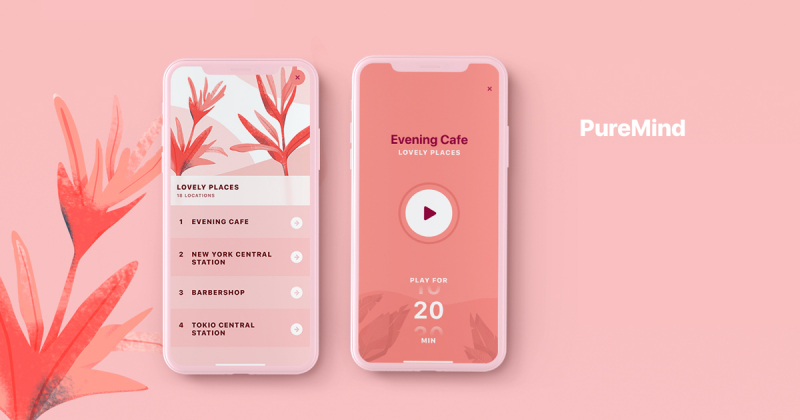 PureMind - Phần mềm hướng dẫn thiền định với thiết kế trang nhã