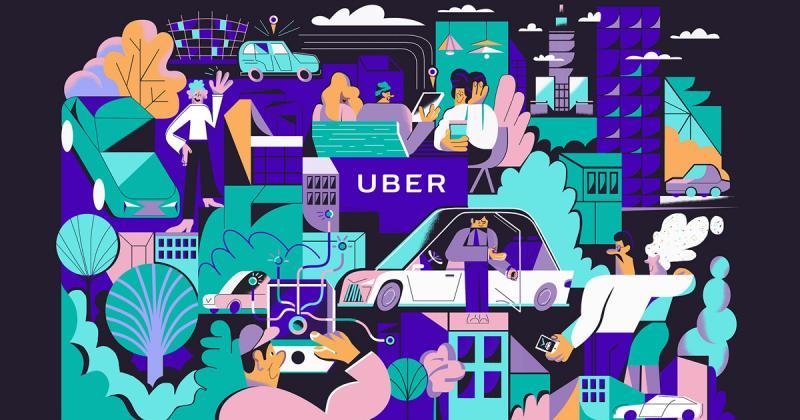 Karol Banach cùng bức tranh tường sống động về đô thị cho Uber