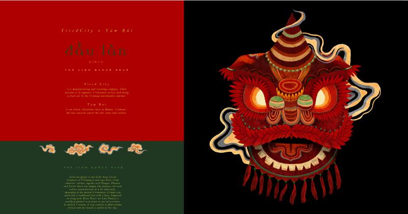 Đầu Lân - Đưa biểu tượng văn hoá múa Lân vào sản phẩm thị trường