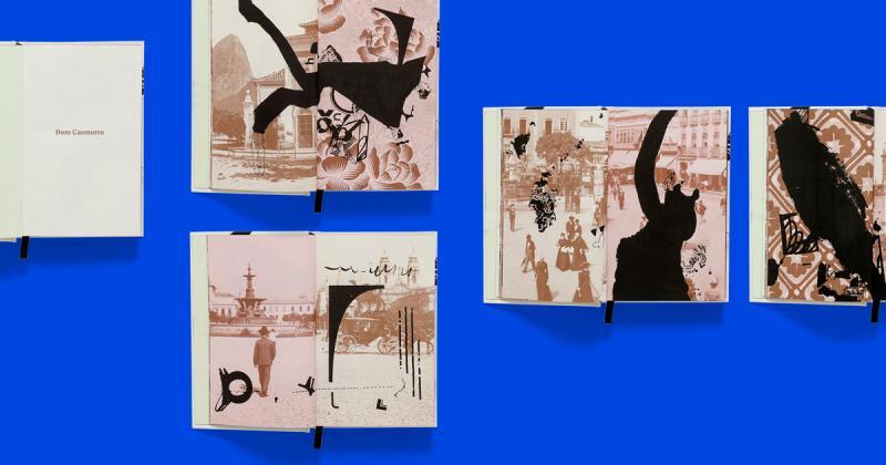 Cuốn sách Dom Casmurro được minh hoạ với phong cách phóng khoáng và táo bạo