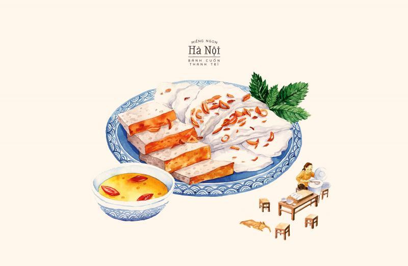 A Taste of Hanoi truyền tải phong cách ẩm thực Việt qua màu nước mộc mạc