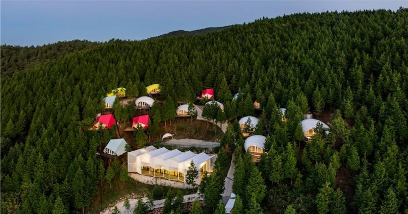 Khu SJCC Glamping Resort với hình thức cắm trại cao cấp giữa rừng sâu