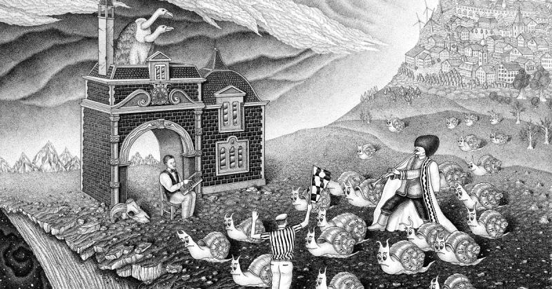 Nghệ sĩ của tuần: Dzmitryi Kashtalyan và những bức họa đen trắng đầy ẩn dụ