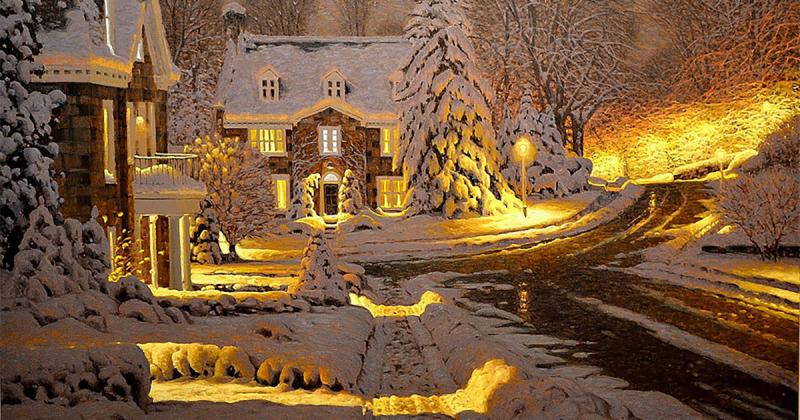 Mùa đông không lạnh với những bức tranh ấm áp như cốc socola nóng