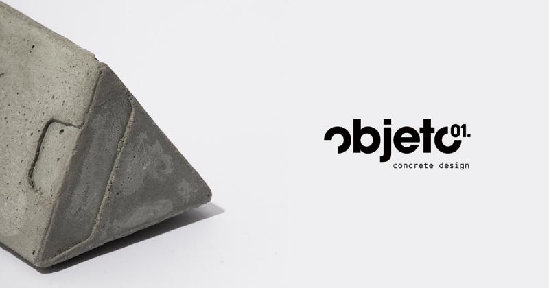 Objeto 01 - Bộ nhận diện thương hiệu bê tông vững chãi và sang trọng