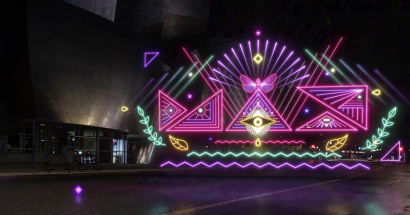 Quá trình tạo nên nghệ thuật 2D trong thế giới 3D giữa lòng Los Angeles