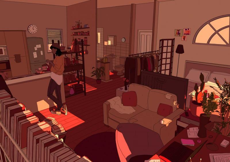 Becky Glendining & những tác phẩm khắc họa không gian sống chúng ta dành cho chính mình