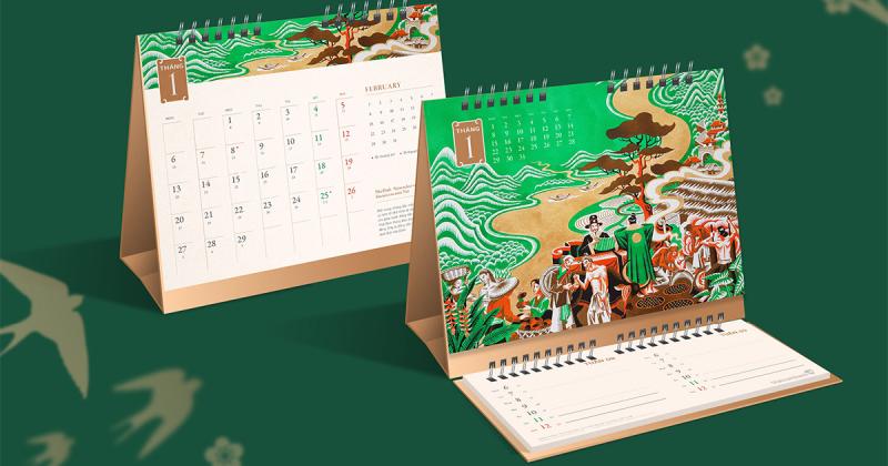 Bộ lịch về lịch sử Giao thương & Tiền tệ Việt Nam của Vietcombank