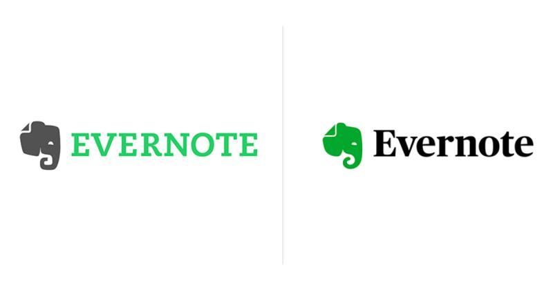 Quá trình phát triển của logo thương hiệu Evernote