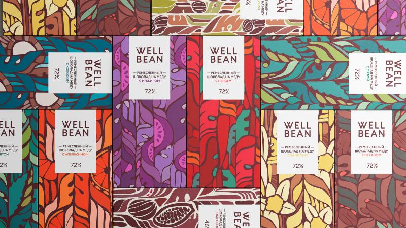 Well Bean - Bao bì cho thương hiệu chocolate thủ công làm từ mật ong tự nhiên