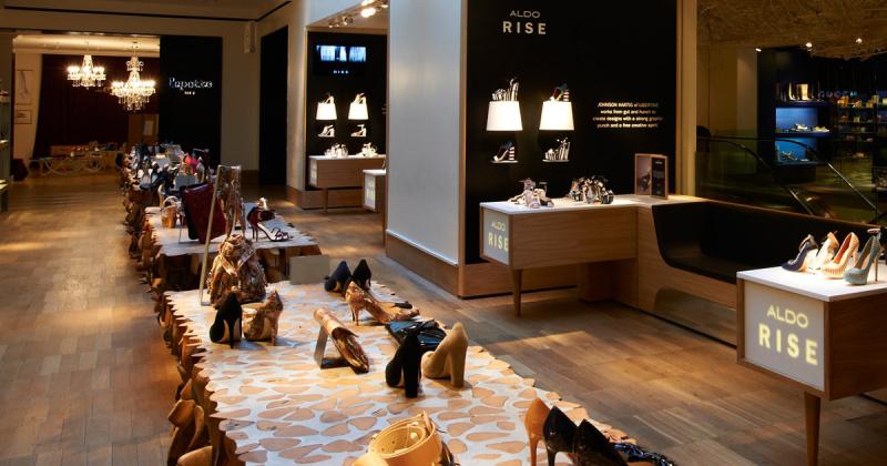 Cùng xem qua nội thất cửa hàng trưng bày của ALDO thiết kế bởi Pentagram
