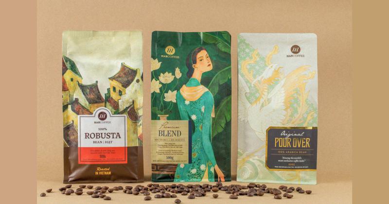 Thiết kế bao bì 'HAN COFFEE' đầy hồn thơ của Hà Nội