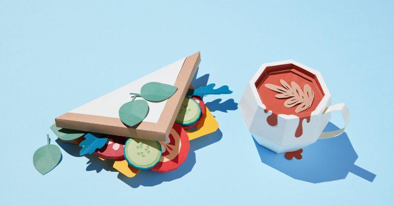 Những món ăn ngon mắt từ giấy thủ công sắc màu