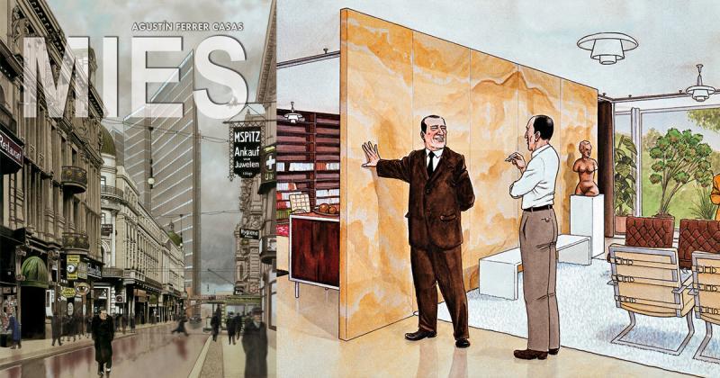 Tiểu sử kiến trúc sư Mies van der Rohe qua nét vẽ truyện tranh