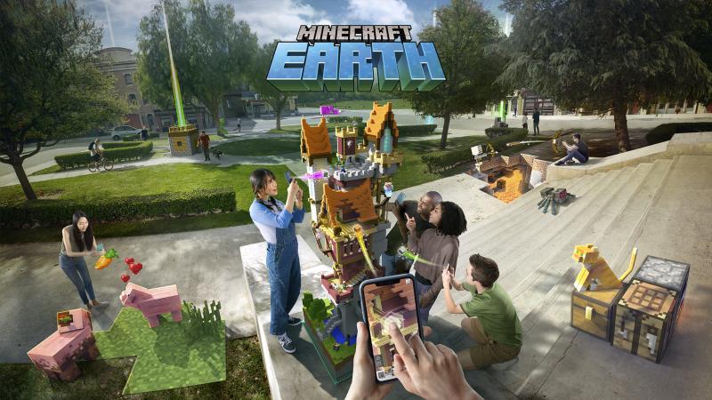 Sắp ra mắt tựa game 'Minecraft Earth': Xây dựng đế chế riêng với công nghệ thực tế ảo